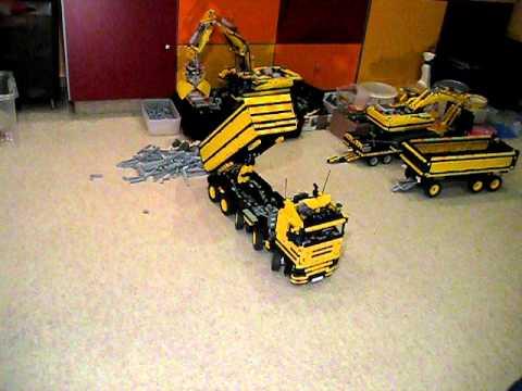 lego technic dump truck 10x4 full remote control youtube. Black Bedroom Furniture Sets. Home Design Ideas