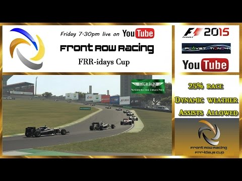 Front Row Racing FRR-idays Cup Brazil F1 2015