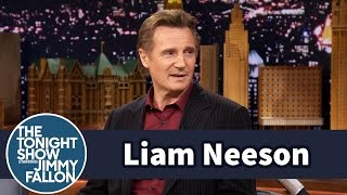 Liam Neeson Slowly Hit a Deer with His Motorcycle