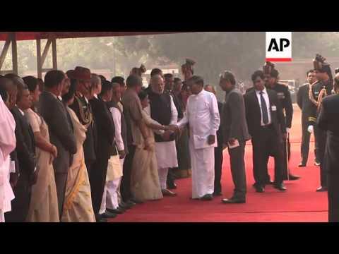 Sri Lankan president meets PM Modi