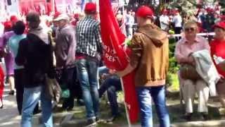 Imagini de la mitingul socialist de #1mai, #Chișinău
