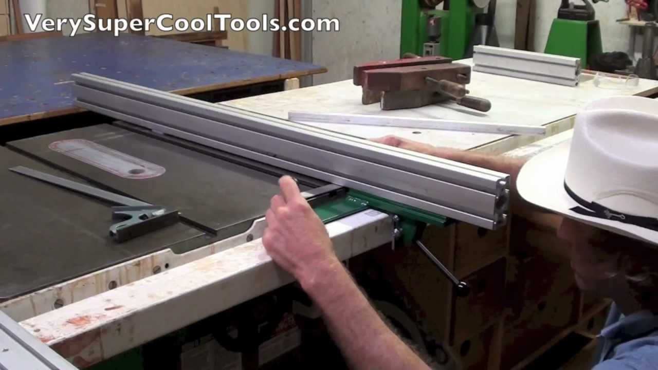 How To Square Your Aluminum Extrusion Fence To Your Table
