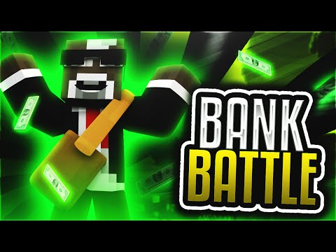 OUR BANK ACCOUNT IS RICH!! ( Minecraft Bank Battle Server Minigame w/ TheCampingRusher )