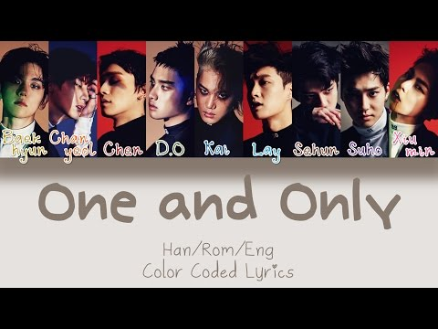 EXO - One And Only (유리어항) [HAN|ROM|ENG Color Coded Lyrics]