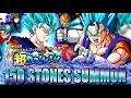 150+ STONES SSJ BLUE VEGITO SUMMONING BANNER!! SSJ3 ANIMATION TROLL | DOKKAN BATTLE | JPN |??