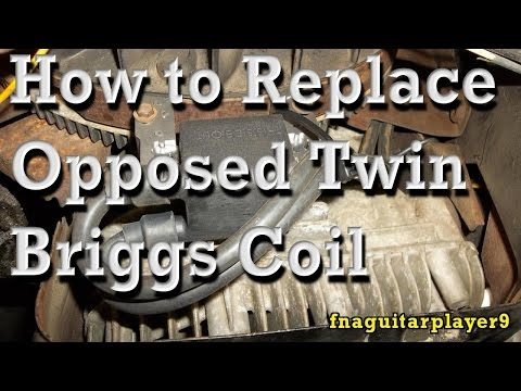 How to Replace Coil (Magneto / Magnetron) on Opposed Twin Briggs