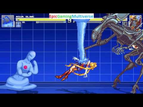 Gel And Aqua Slime VS Sailor Moon And The Alien Queen In A MUGEN Match / Battle / Fight