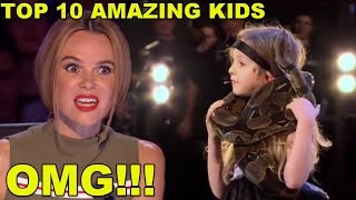 [MOST AMAZING KIDS] BEST TOP 10 AUDITIONS EVER ON BRITAIN