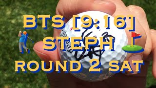 bts[9:16] Steph Curry ⛳️ Rd 2 w/ Justin Timberlake & Aaron Rodgers at Edgewood Tahoe #accgolf Friday