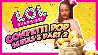 LOL Surprise Dolls Lil Sisters Confetti Pop Series 3 Wave 1 Toy Review