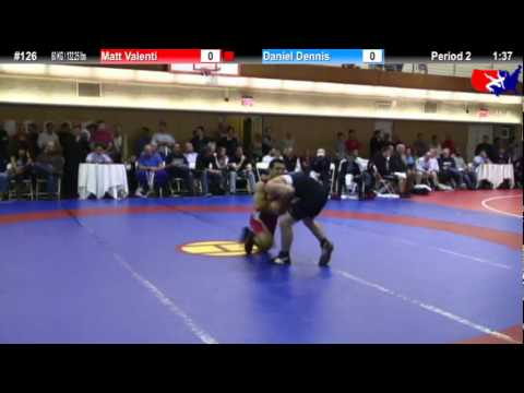 NYAC FS 60 KG / 132.25 lbs: Matt Valenti vs. Daniel Dennis