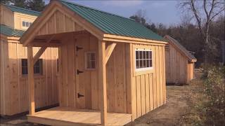"""The Nook"" - Garden Shed Converted into a Tiny House with Bunk Beds & Toilet - 8X12 to 8X24 DIY & FA"