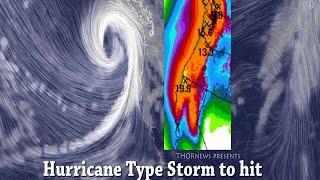 Alert! Danger! 4 Storms w Hurricane Winds to hit N. California & Northwest Pacific USA Coast
