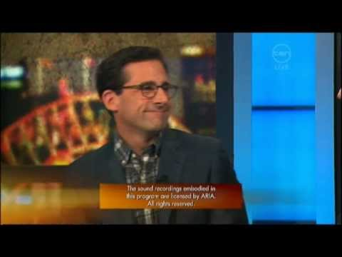 Steve Carell Interview - The 7pm Project (Australia) 2011 - Crazy, Stupid, Love