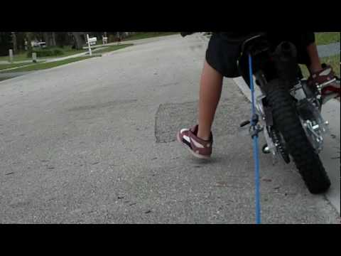 baja 70cc dirt bike waggon pullin