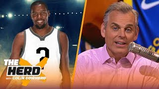 Colin Cowherd reacts to KD opting out of contract & predicts NBA FA landing spots | NBA | THE HERD