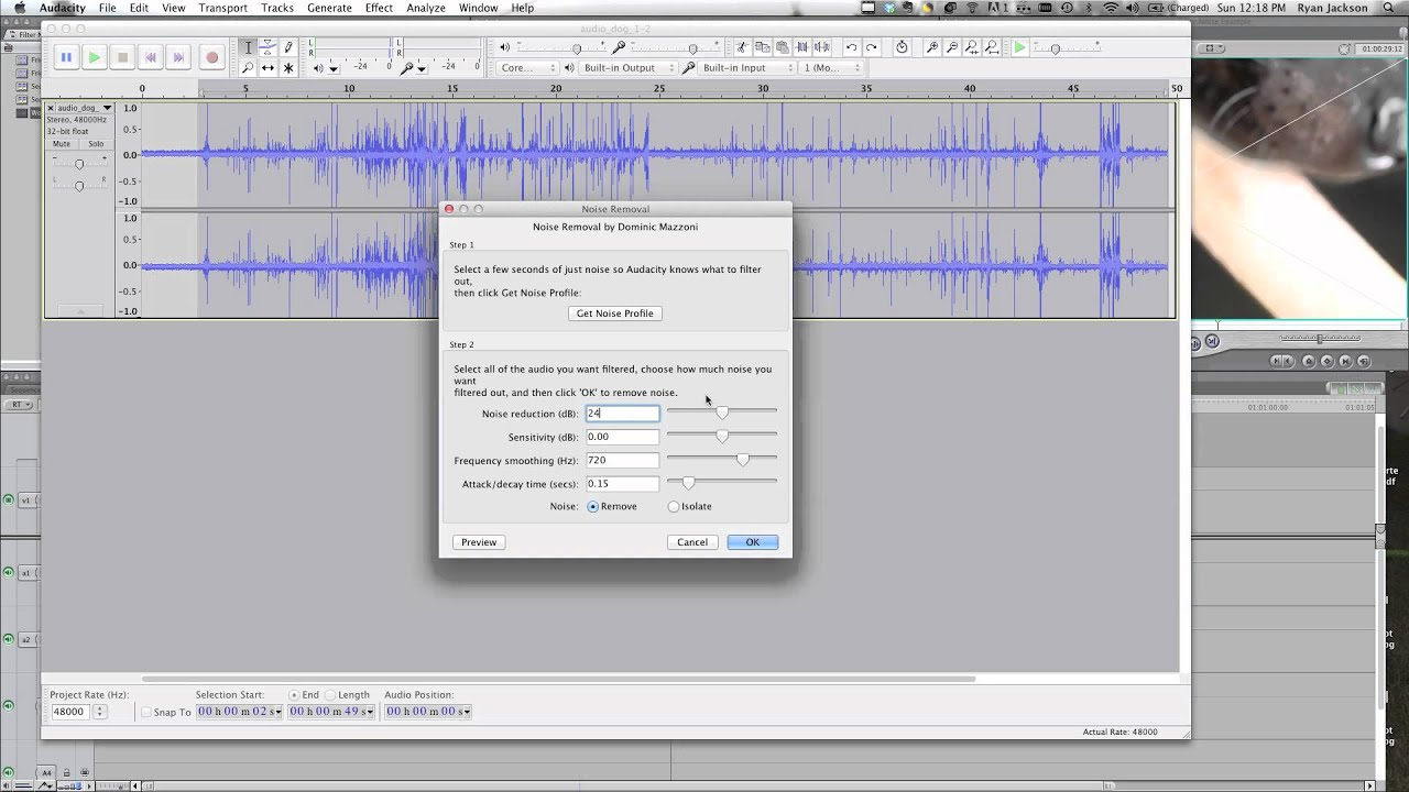 How to Filter Background Noise - Final Cut Pro / Express / FCPX using ...