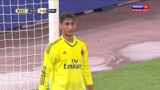 Gianluigi Donnarumma [Professional Debut] vs Real Madrid (Neutral) HD