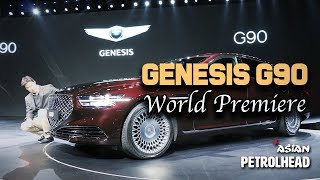 The New Genesis G90 - World Premiere from Korea (In-depth design review)
