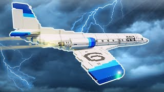 HAUNTED SUPERSONIC PLANE FLIES INTO STORM! - Stormworks Multiplayer Gameplay