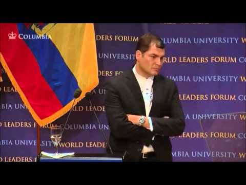 Columbia University Rafael Correa part 6 President of Ecuador