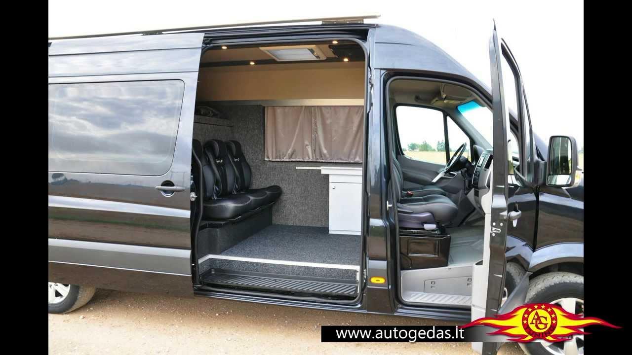 Black Mercedes-Benz Sprinter Van Conversion - YouTube