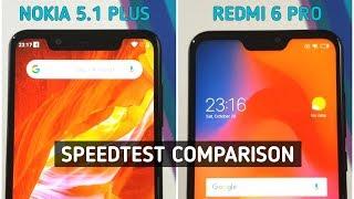 Nokia 5.1 Plus vs Redmi 6 Pro Speed Test & Camera Comparison | TechTag