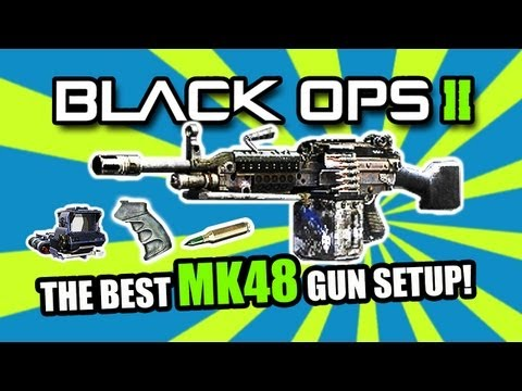 Black Ops 2: BEST (LMG) LIGHT MACHINE GUN CLASS   MK48 (BO2 Multiplayer Gameplay)