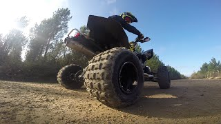 TEST Go Pro Hero 3 + PNJ CAM SD 21 : ATV - QUAD LTR 450 Rockstar - Position of Cam And Slowmotion