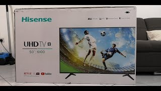 Hisense 50A6100UW Unboxing It's Cheap And Best