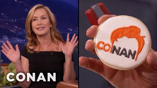 Angela Kinsey Made CONAN Cookies  - CONAN on TBS