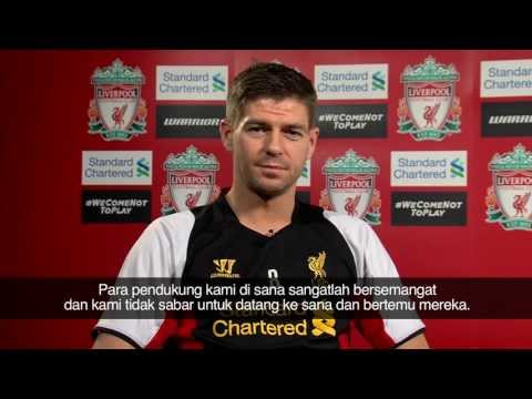 Steven Gerrard's message to LFC fans in Indonesia