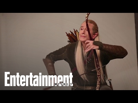 Stephen Colbert transforms into Bilbo Baggins, Legolas, and Gandalf from 'The Hobbit'