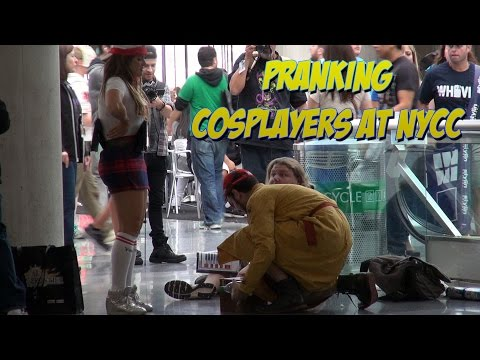 Cosplayers Can't get it Up at NY Comic Con [NYCC] (Public Pranks S01E09)