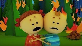 Аркадий Паровозов спешит на помощь - Почему опасно разводить костер в лесу - мультфильм детям