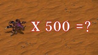 러커 500마리가 버로우하면 얼마나 강할까? - 스타크래프트1