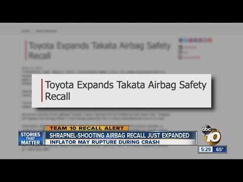 Toyota adds 331K cars to Takata air bag recalls