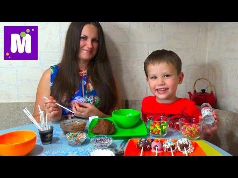 Шоколадные конфетки на палочке с нутеллой делаем дома cake pop make at home