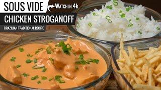 Sous Vide CHICKEN STROGANOFF Brazilian Recipe - Best CHICKEN STROGANOFF ever!