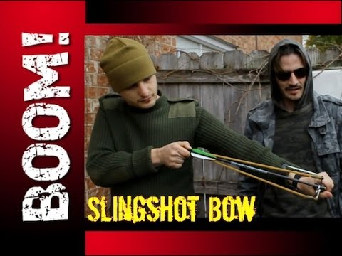 MAKE A SLINGSHOT SHOOT ARROWS CHEAP AND EASY! - ZOMBIE SURVIVAL HACK!