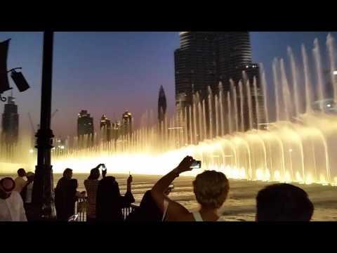 Burj Khalifa, Night View Fountain Dancing Dubai Asif Ahmed