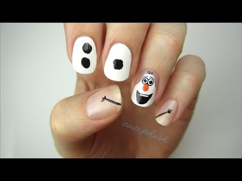 Disney Frozen Nail Art: OLAF!