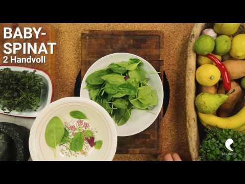 HUMANOO ERNÄHRUNG: Spinatsalat mit Feta und Granatapfel