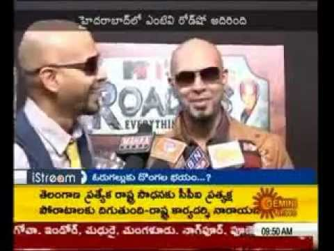 Raghu and Rajiv of MTV Roadies speaking in Telugu with Andhra...