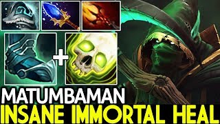 Matumbaman [Necrophos] Insane Immortal Healing Build Hard Game 7.21 Dota 2