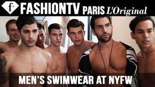 Men's Swimwear at New York Fashion Week - The Fashion Gallery Backstage | Spring 2015 | FashionTV