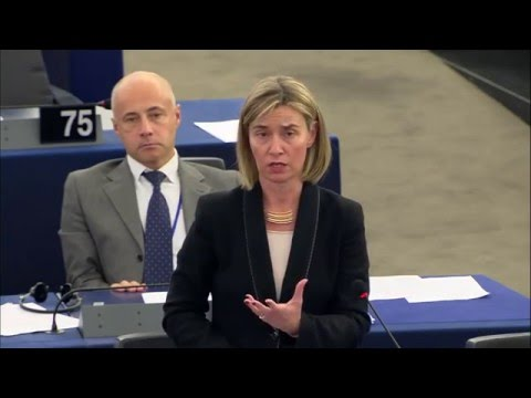 Humanitarian situation in Syria - Statement by Federica Mogherini at EP Plenary session