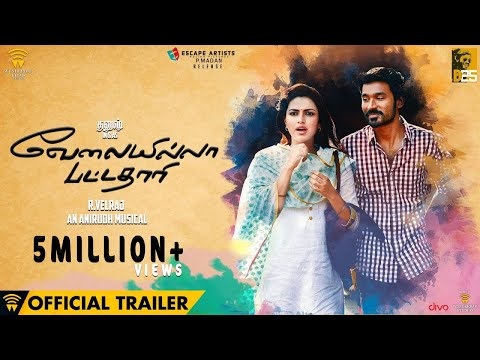 Velai Illa Pattadhaari (vip) - Official Trailer | Dhanush, Amala Paul | Anirudh video