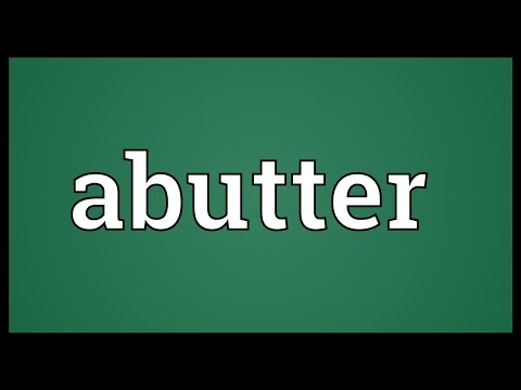 Header of abutter