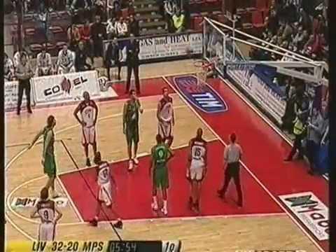 Basket Livorno vs Montepaschi Siena 93-91 (2004/05) - integrale Sky